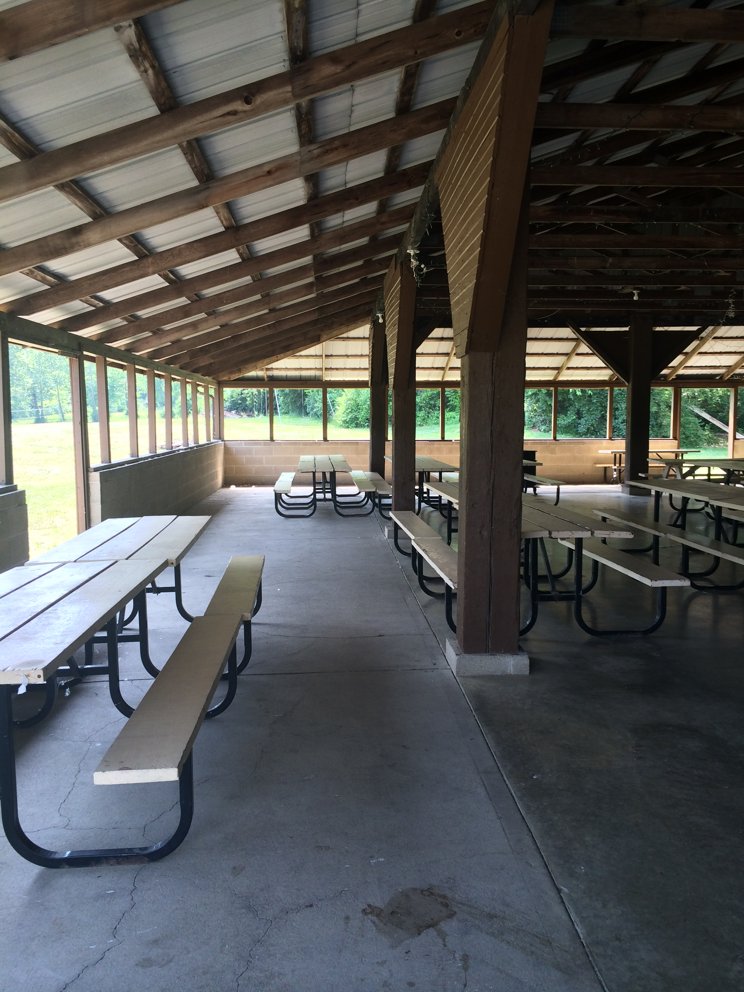 Large outdoor party barn.
