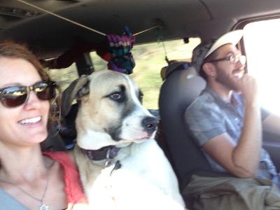 Driving through Honduras.