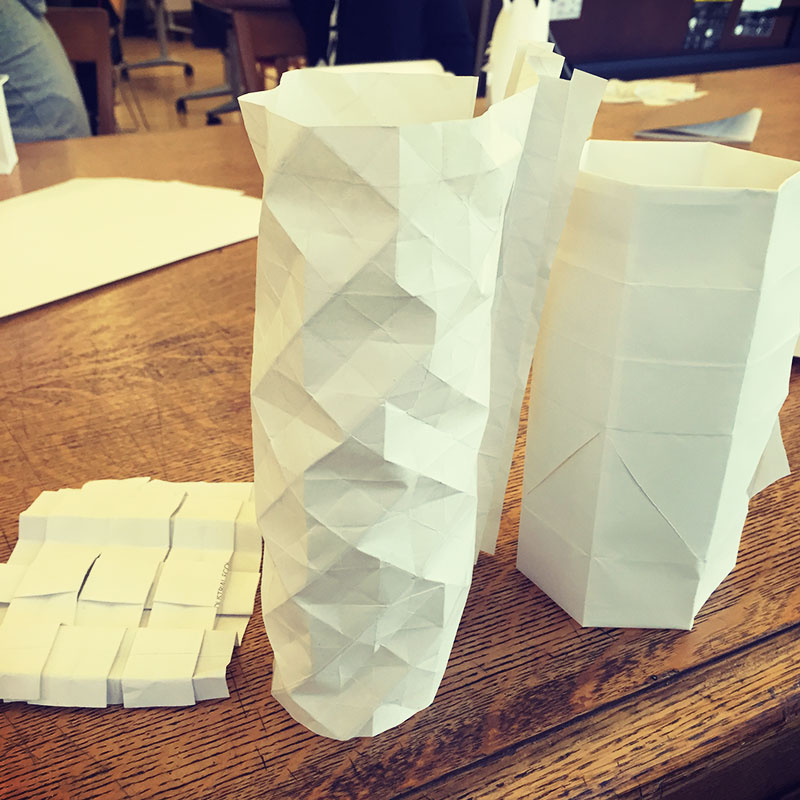 My artifacts from the design exercise in class that lead us to explore abstract forms while trying to forgot function.