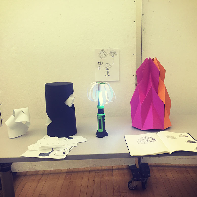 My lamp on the right, along my peers lamps.