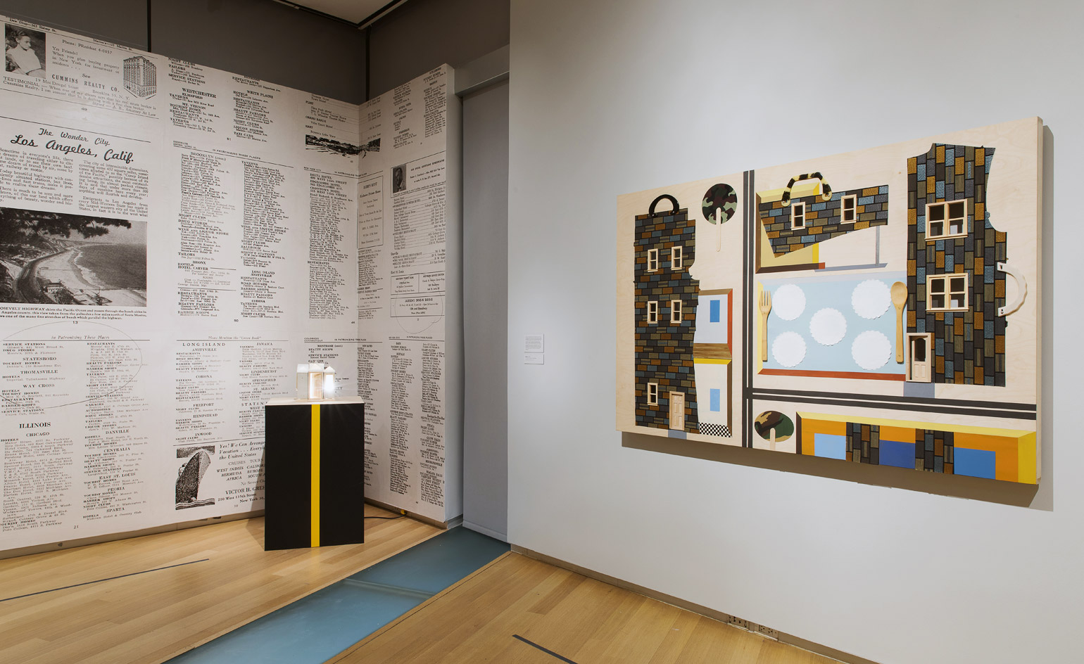 Installation view of 'Sanctuary' by Derrick Adams at MAD, New York. Photography: Jenna Bascom. Courtesy of The Museum of Arts and Design