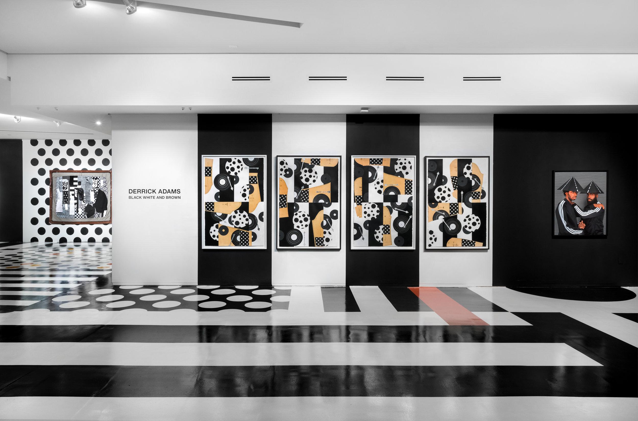 Derrick Adams Black White and Brown PRIMARY Miami 2017 install.jpg