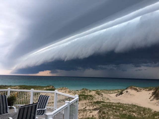 Storm front approaching, July 2017, by John Modlin