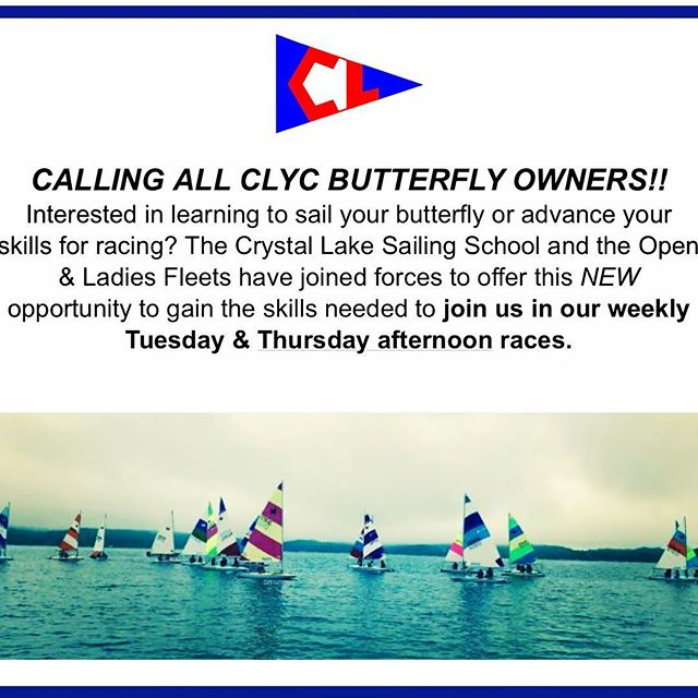 CALLING ALL BUTTERFLY OWNERS. Interested in sailing today or Thursday? Click here https://docs.google.com/forms/d/e/1FAIpQLSeKqEsDm0HZYPboZblxX0gCF0UjhCx2lUVwL4STfRabo-NoqQ/viewform