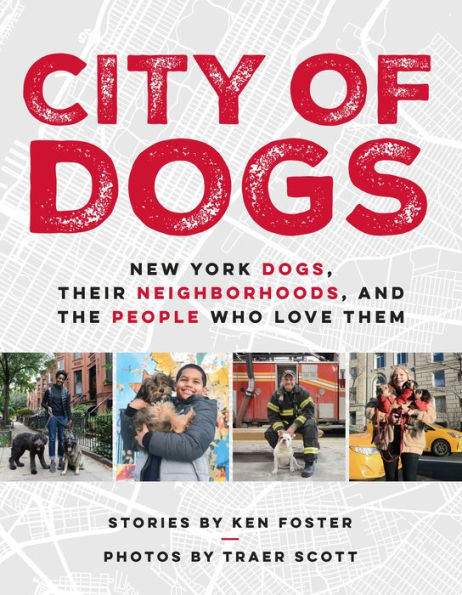 A beautiful, heartfelt, funny, and inspiring collection of photos and stories that maps the relationship between canine New Yorkers and their human counterparts.    New York is a city of five boroughs, more than 250 distinct neighborhoods, 8.5 million people, and more than 600,000 dogs, who are as much a part of the social fabric as the people who follow them on the other end of the leash.  City of Dogs  maps this relationship with incredible four-color photos highlighting the scene.  From the Bronx to Brooklyn and along the streets of Harlem and Manhattan, Ken Foster and Traer Scott explore the unique relationships between dogs and their human counterparts. We meet Alex Nuckel, living on disability and finding joy and purpose in caring for his two pit bulls, Lucy and Rocky. And Majora Carter, a community activist who has received a MacArthur grant, living and working with two stray shepherds she rescued in her own neighborhood.  City of Dogs  also takes us to a Midtown Manhattan law office, where staff are encouraged to bring their adopted dogs to work, and to the JFK airport, where we meet dogs who help screen at security. And then on to Brooklyn, where we meet award-winning author Jacqueline Woodson and her dogs, Toffee and Shadow. These are just a few of the amazing animals and their people featured in this perfect gift book for any dog lover.  Release date: October 9, 2018 from Avery/Penguin   Pre-order City of Dogs