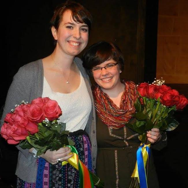 Erin Donovan (left) posing with Alana Smith, writer of 'Jacks and the Fourth Wall'
