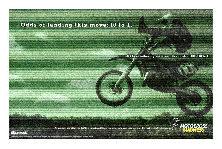 Microsoft Motocross Madness   1999 Communication Arts Magazine winner   1999 San Francisco Icon Awards