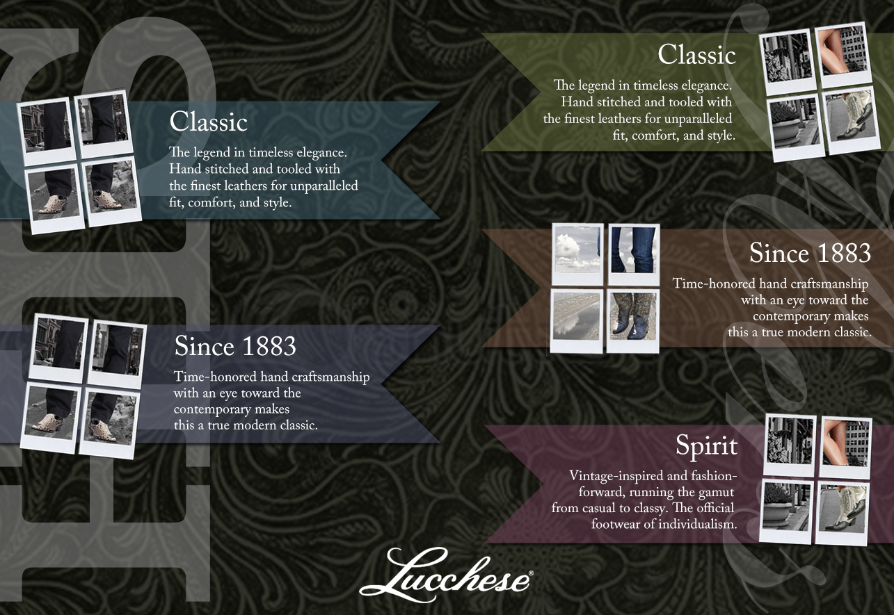 Lucchese Collections page mock-up