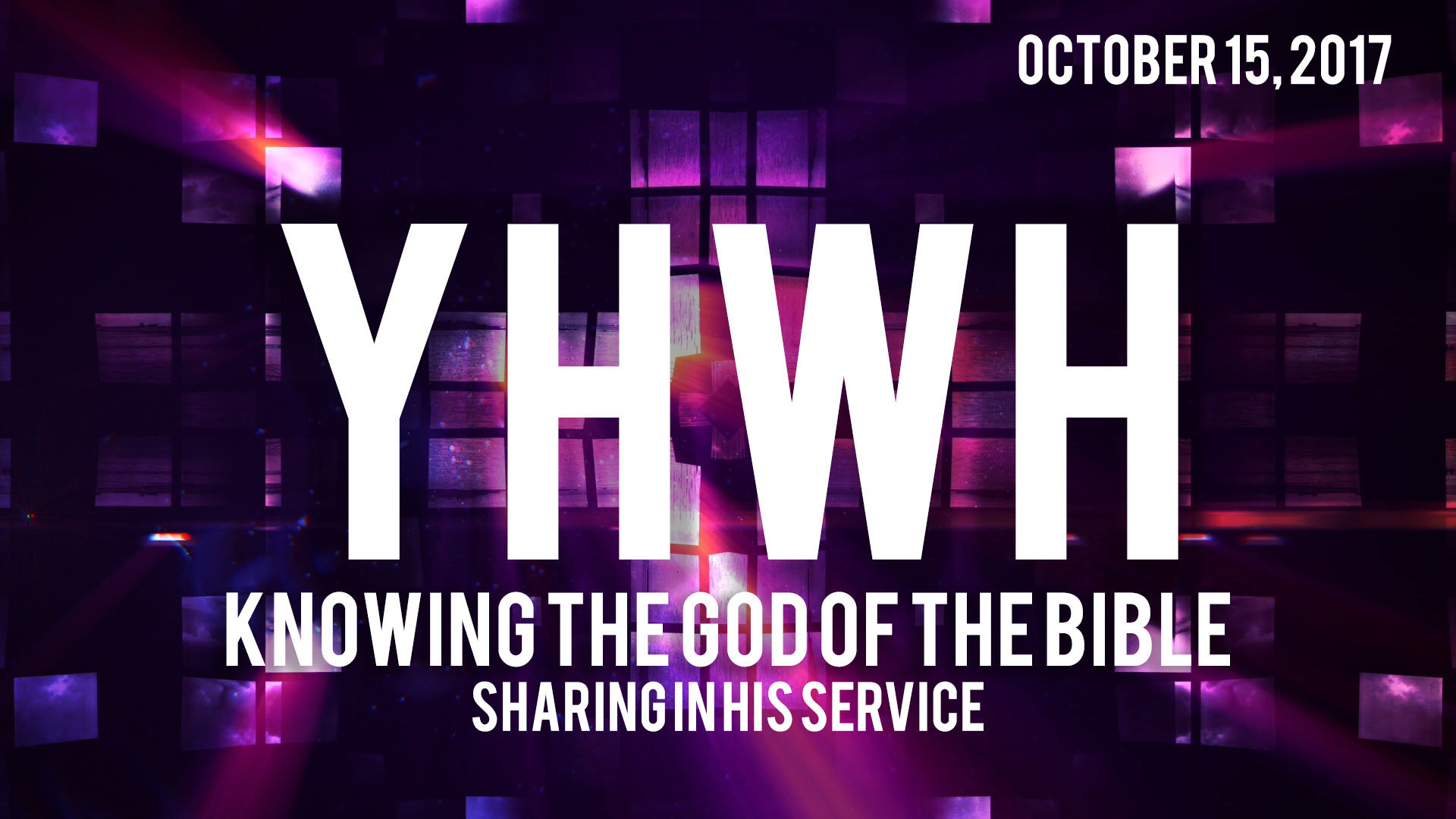 YHWH: Knowing the God of the Bible - — westminster presbyterian