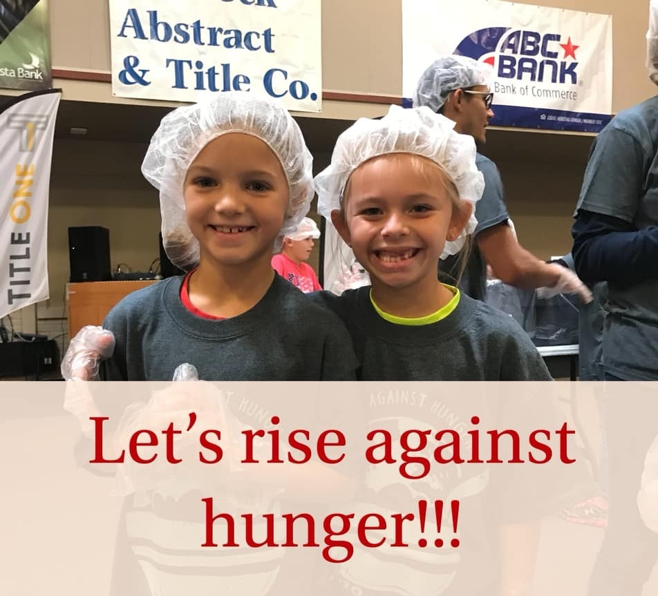 Our annual Rise Against Hunger meal packaging