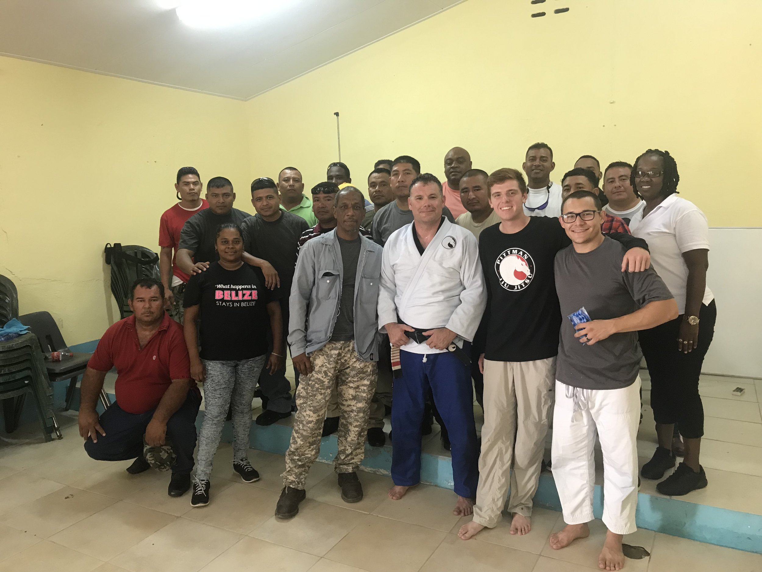 Jiu-jitsu training in Belize Prison