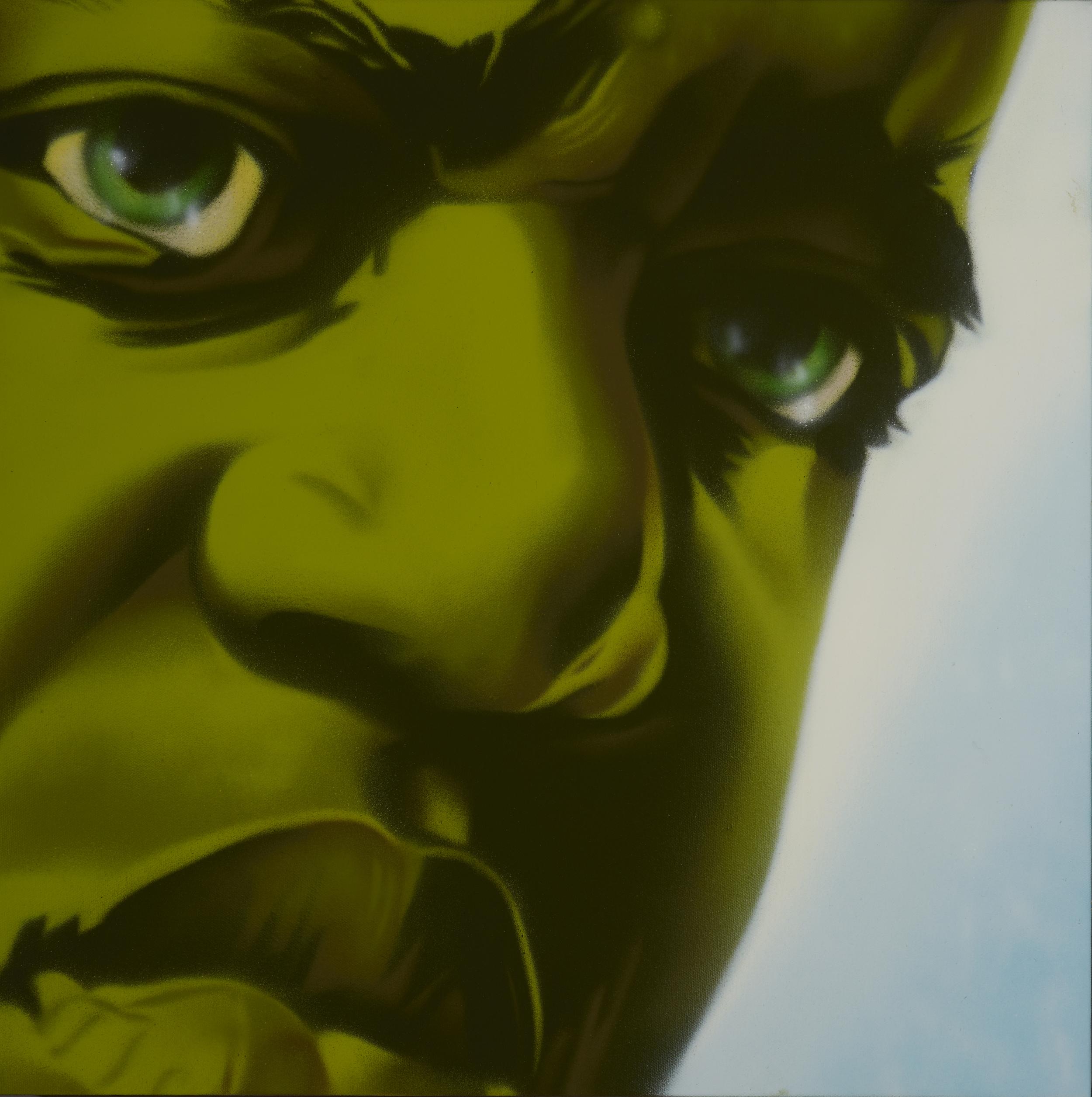 """aerosol on canvas  24"""" x 24""""  2013"""