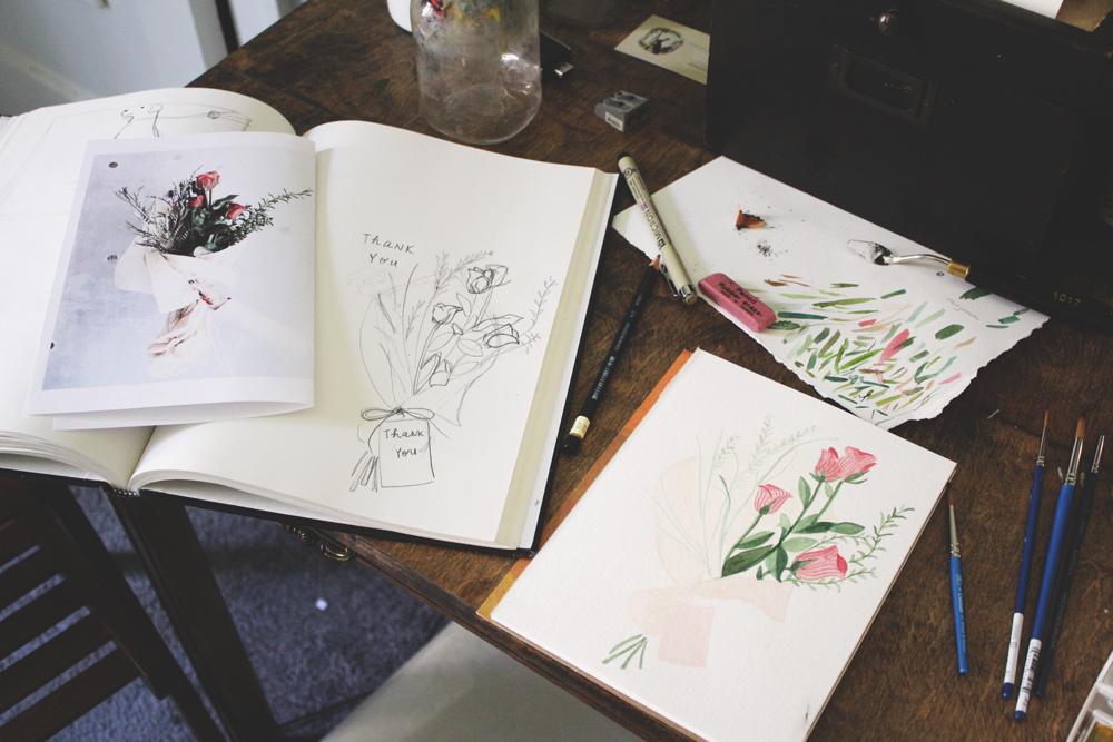 Roses work in progress by Jenni Haikonen.jpg