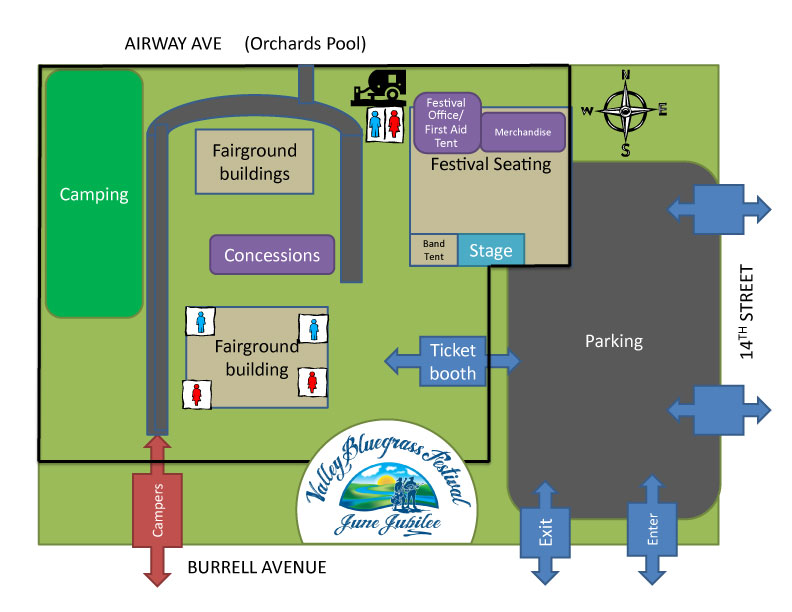 View Fairgrounds Map