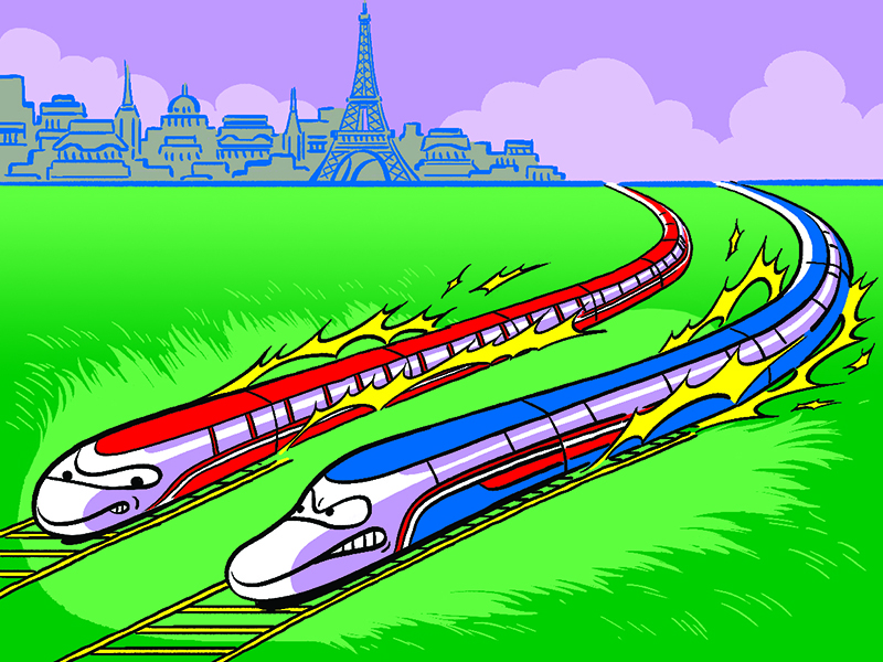 high speed trains for Bloomberg Businessweek