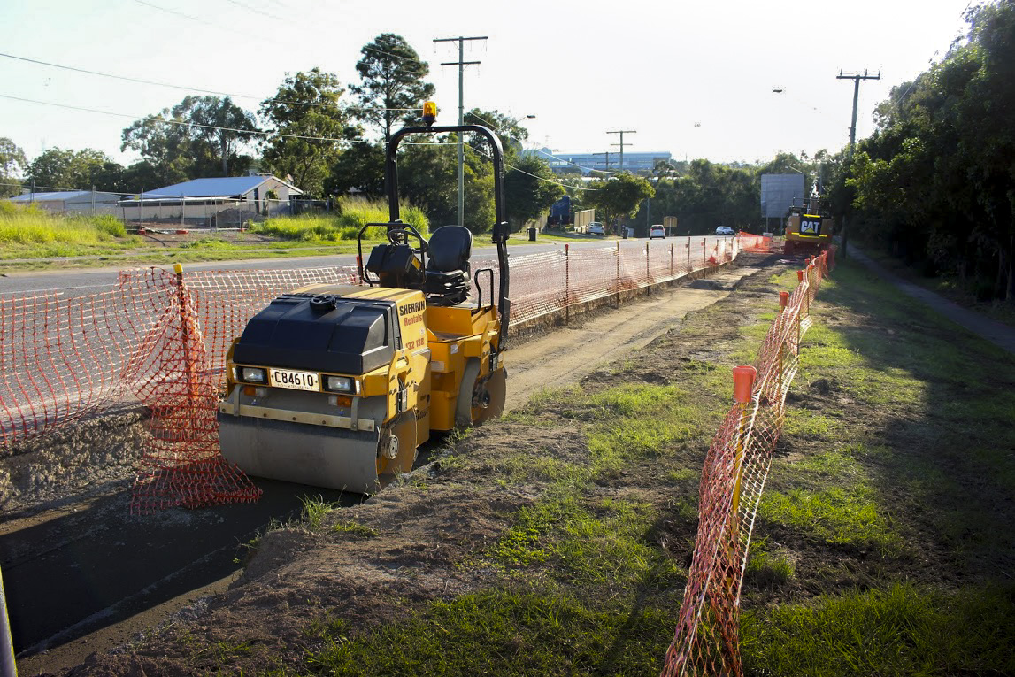 Road widening to accommodate a new bike lane