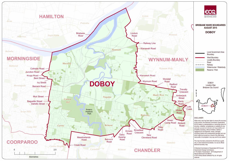 finalised map of doboy ward provided by ecq via:www.ecq.qld.gov.au