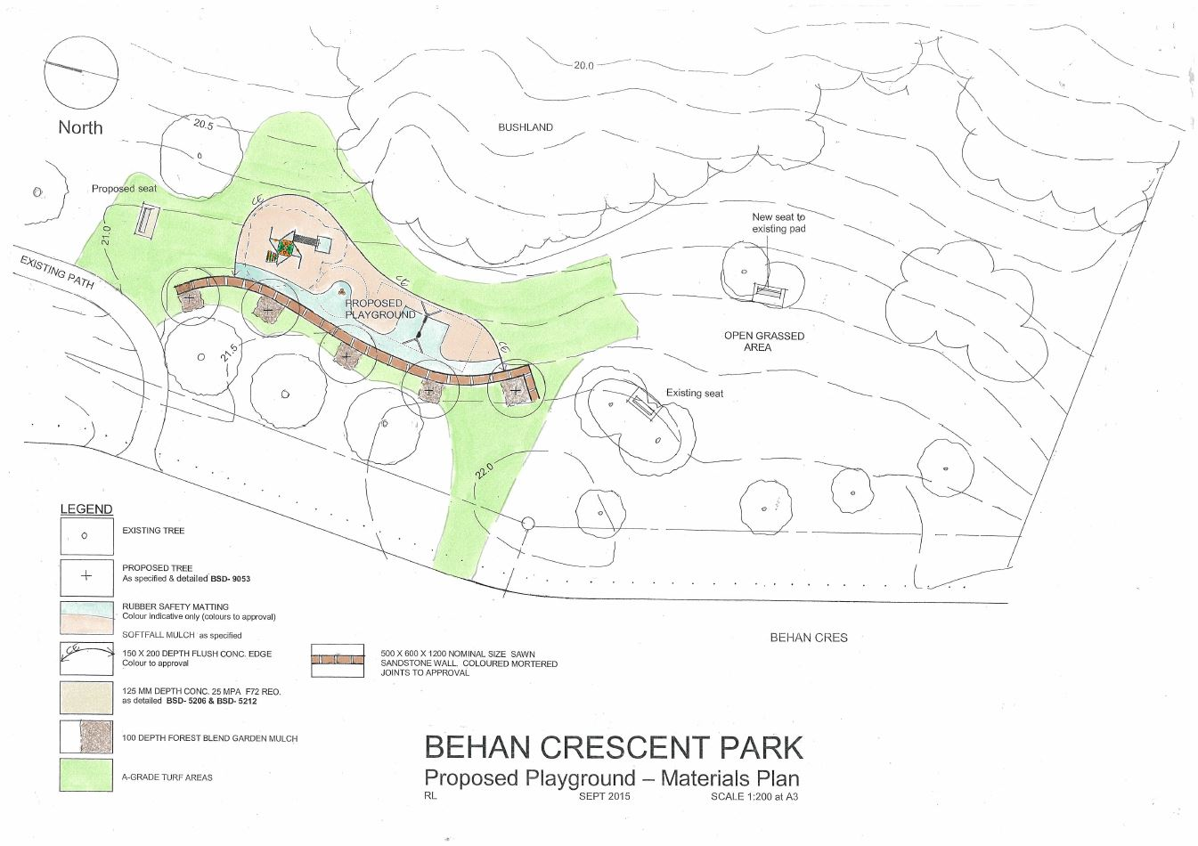 Behan Crescent Park - Construction will commence on Monday 2 November 2015