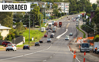 Lytton Rd safety improvements  A major upgrade of Lytton Road at Murarrie, improving safety & accessibility for all road users.