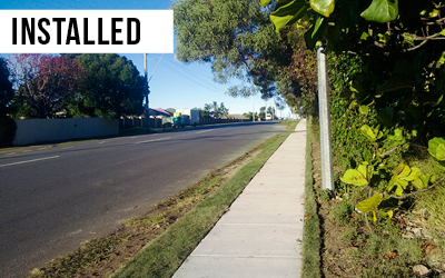 Major footpath works  Invested in major footpath network upgrades along New Cleveland Road to connect our community.
