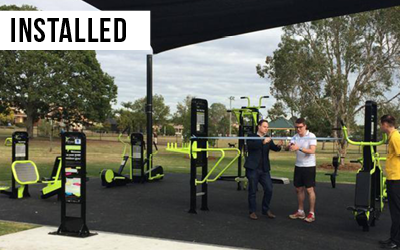 Minnippi Outdoor Gym  The first of its kind in Brisbane, a $250,000 investment in free fitness equipment for Carina.