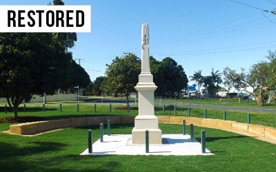 Anning Monument refurbishment  Restored the Boer War era Anning Monument to it's former glory with a $16,000 refurbishment in time for the Centenary of ANZAC celebrations.