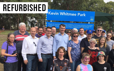Kevin Whitmee Park  Formerly named Roscrea Steet Park, Council invested $160,000 to upgrade facilities & re-name the park after local hero, Kevin Whitmee.