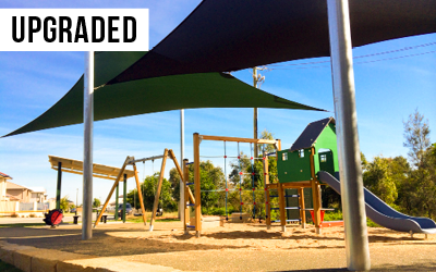 Vera Place Park  Invested $96,300 to build the new Vera Place Park playground for residents near Murarrie Road, Tingalpa.