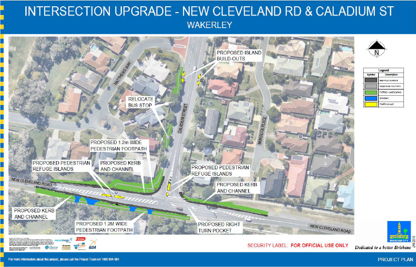 Council Plans for the Intersection upgrade