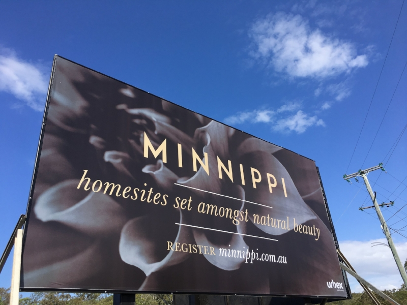 Billboard sign on Creek Road