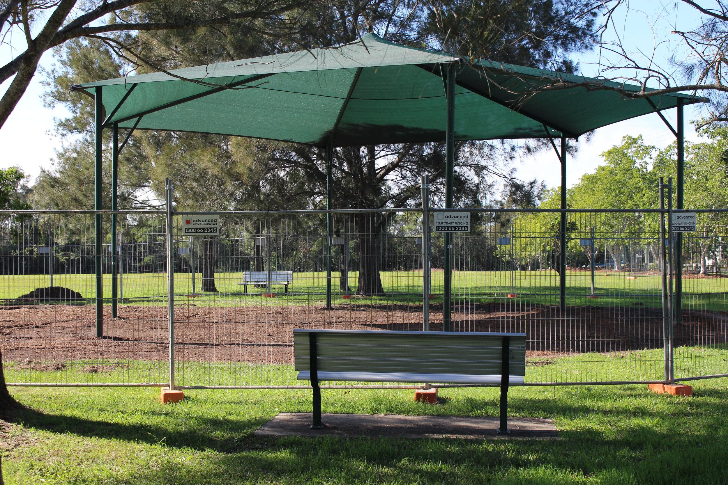 Billan st park, carina: upgrade in progress