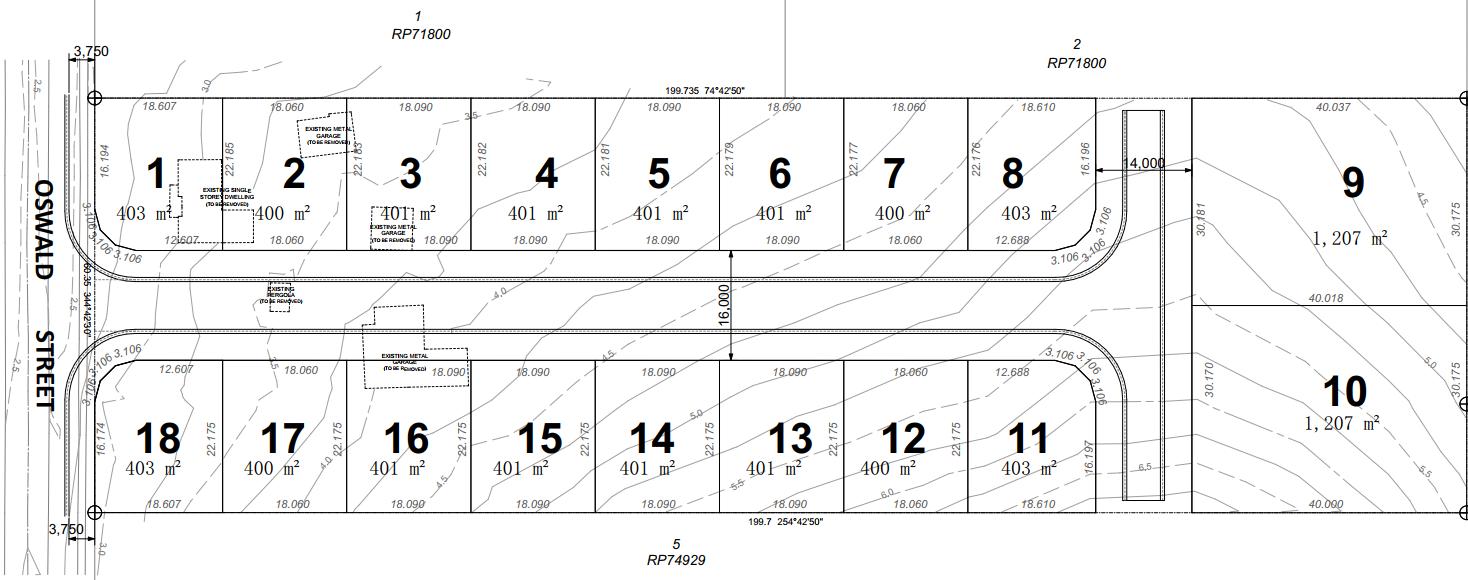 20 Oswald St, Hemmant Sub-division plans (Application A004629416)