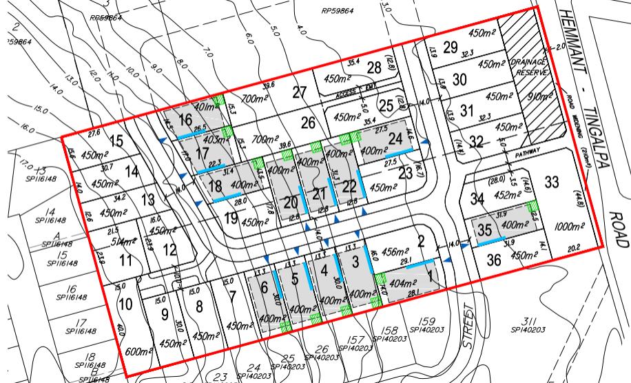 261 & 273 Hemmant-Tingalpa Rd, Hemmant sub-division plans (application A004835643)