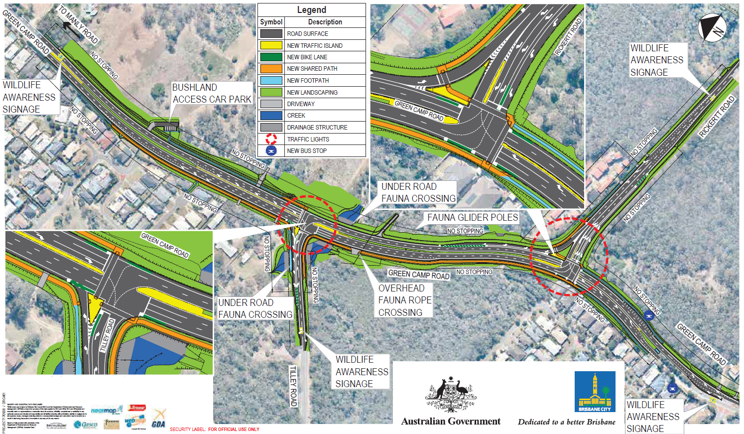 Green Camp Road Corridor Upgrade, Wakerley - Project PlanS (detailed design, Feb 2018)