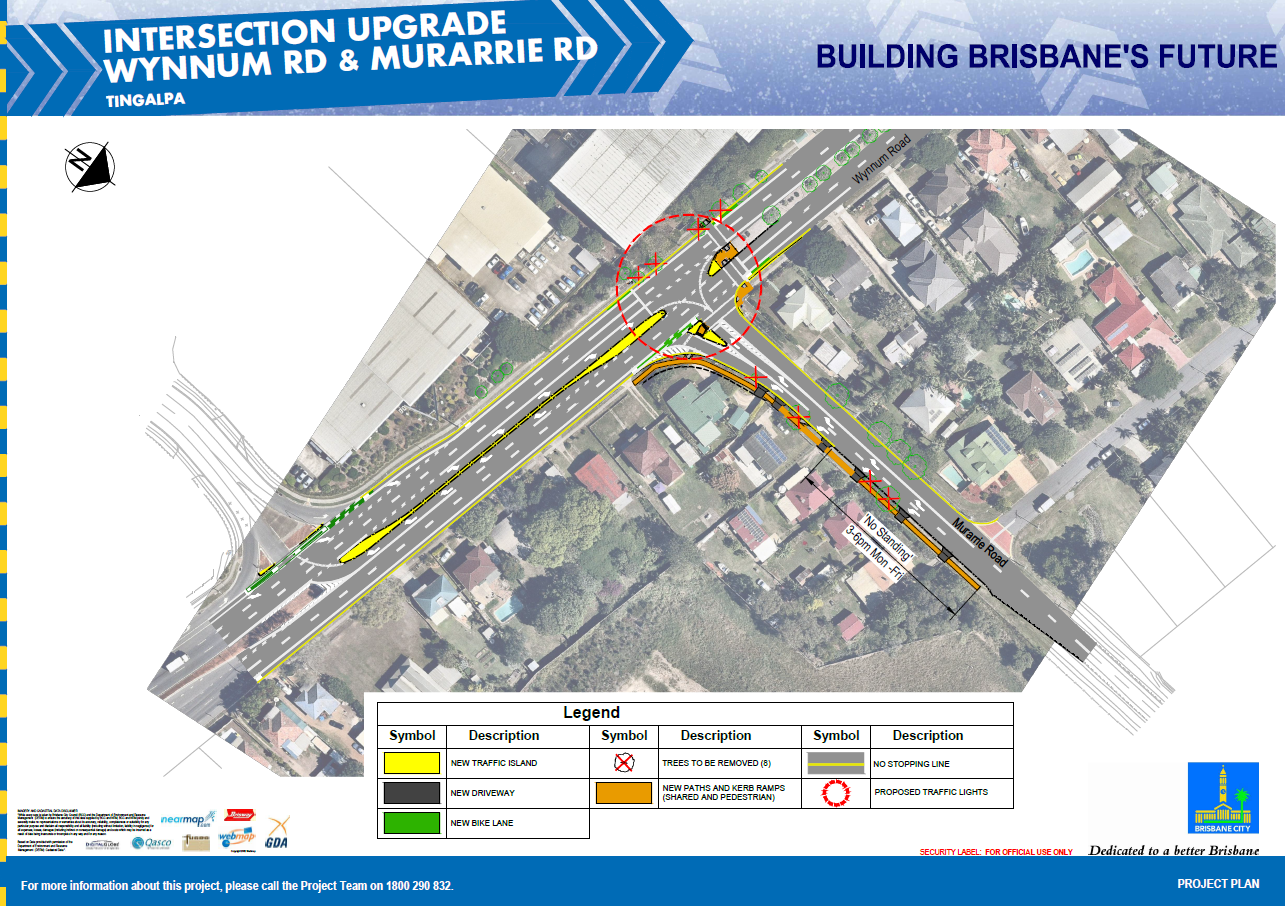 Wynnum Road & Murarrie Road intersection upgrade project plaN