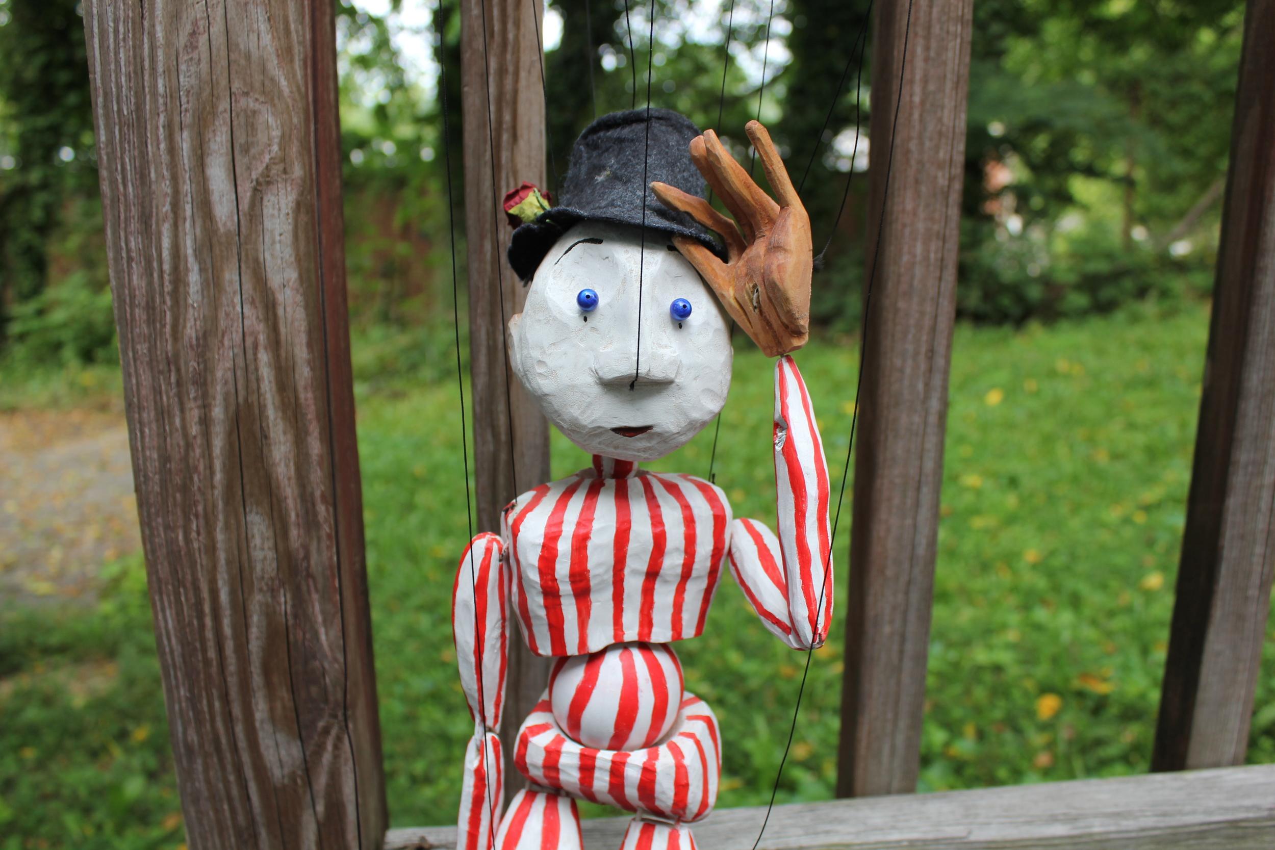Clown marionette hat tip.JPG