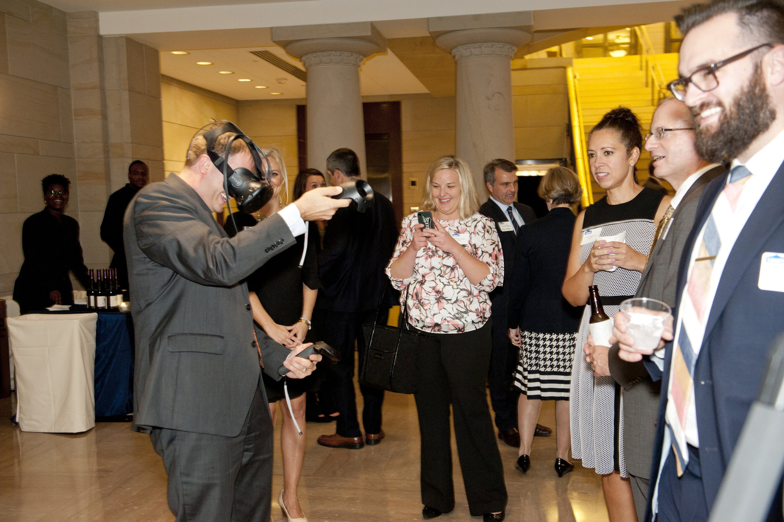 Guests interacting with our latest VR experience.