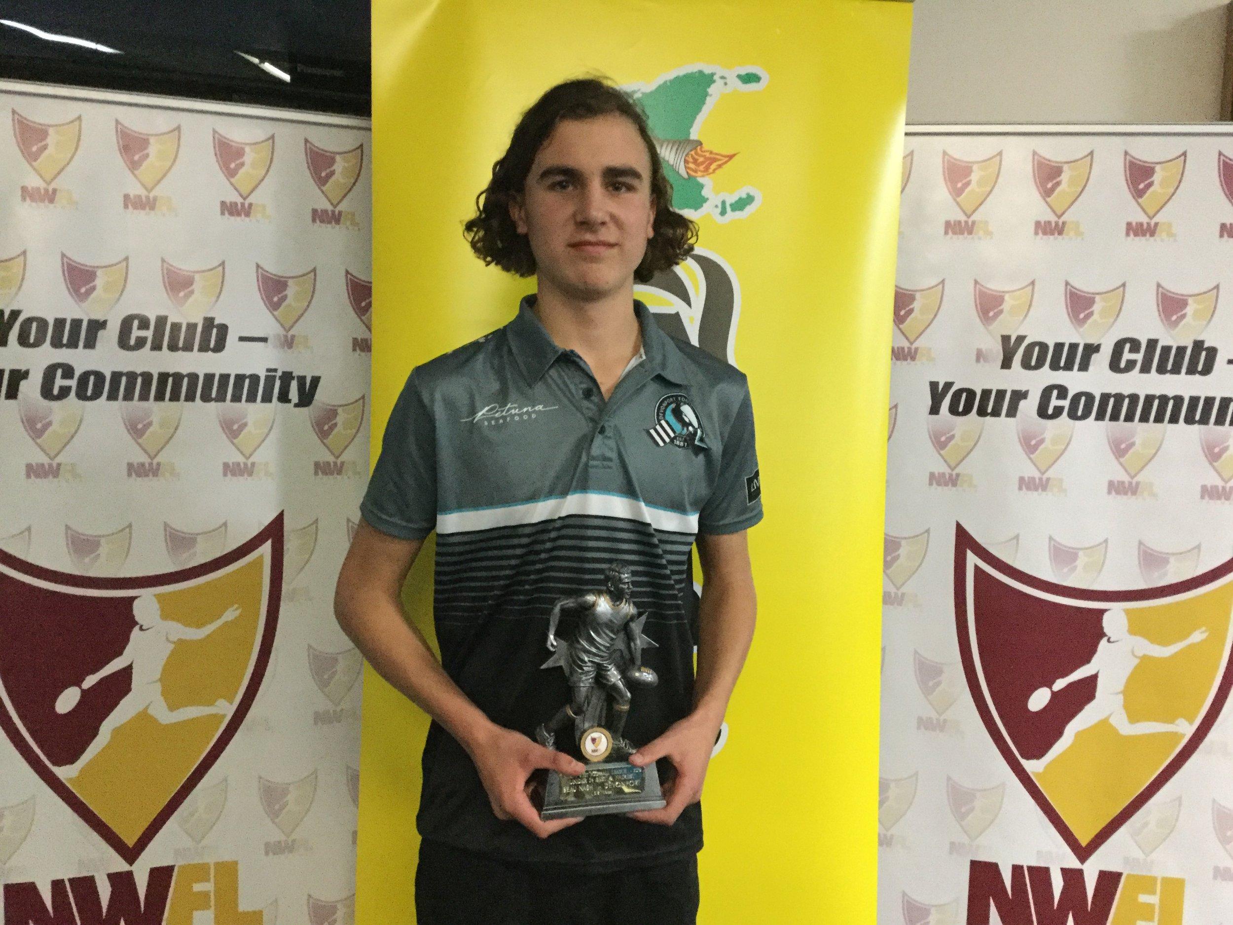 U14 B&F Winner - Beau Nash - Devonport.JPG