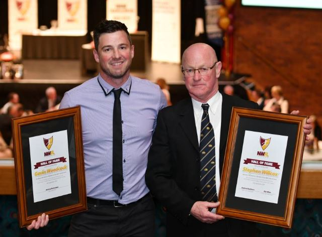 2019 Hall of Fame recipients - Gavin Woodcock (left) and Stephen Willcox (Photo: The Advocate)