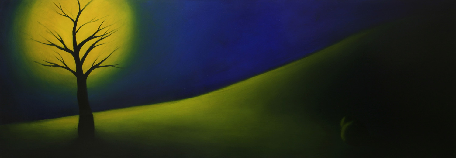 Tree by the Hill • 17 x 48 • Panel • 1400