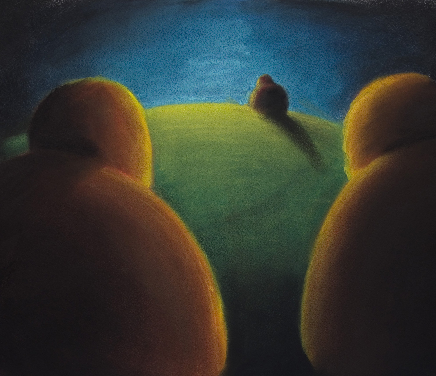 Farewell • 14 x 26 • Soft pastel on paper • 300