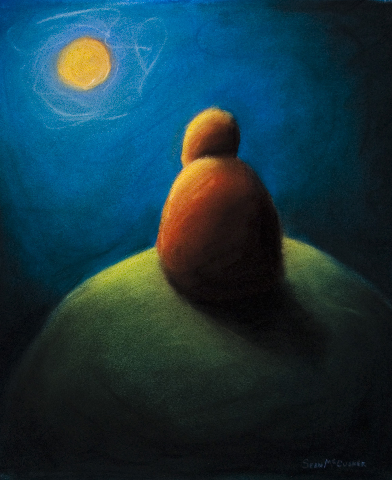 Quiet Time • Soft pastel on paper • 300