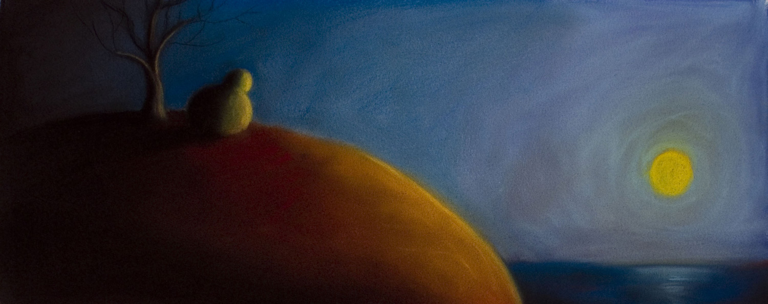 Setting Sun • 14 x 26 • Soft pastel on paper • 300