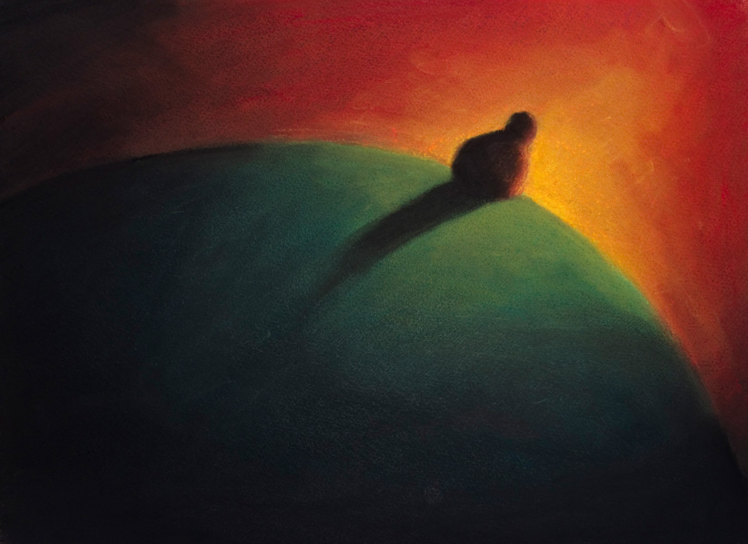 Horizon Light • 22 x 18 • Soft pastel on paper • 250