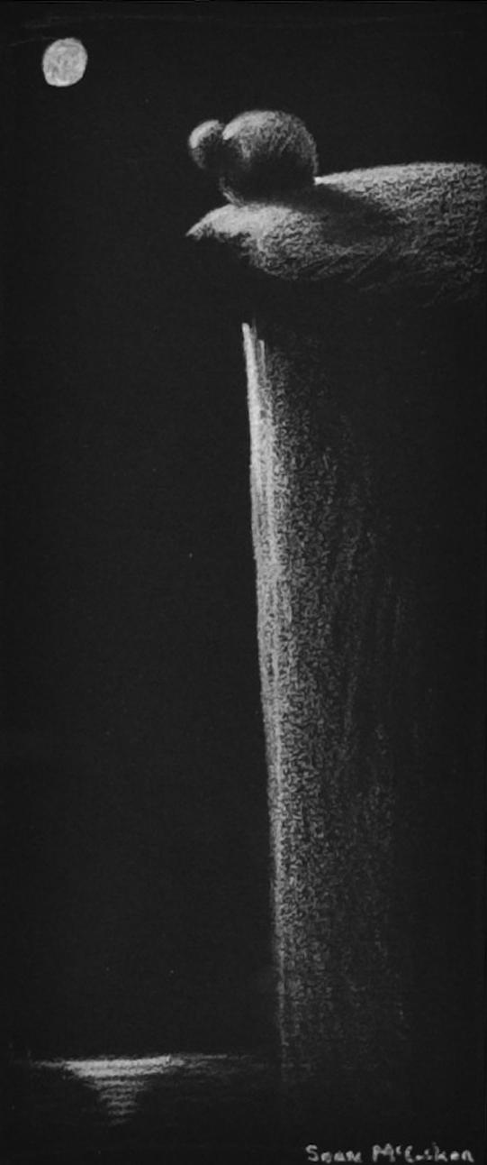 The Cliff • 10 x 8 • Conte • 50