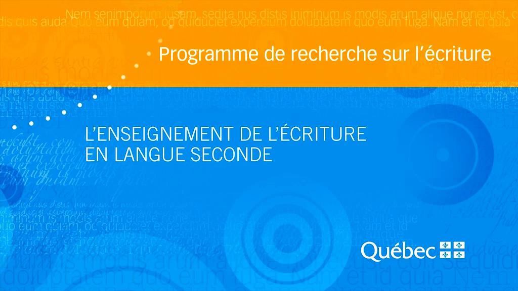Capsule réalisée à partir de la recherche suivante :  ARMAND, Françoise,  L'enseignement de l'écriture en langue seconde. Synthèse de connaissances , Université de Montréal, 2011.