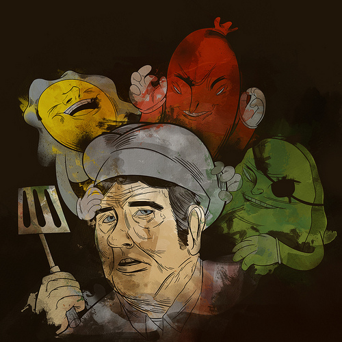 Burger Time by Emory Allen - ocularinvasion.com
