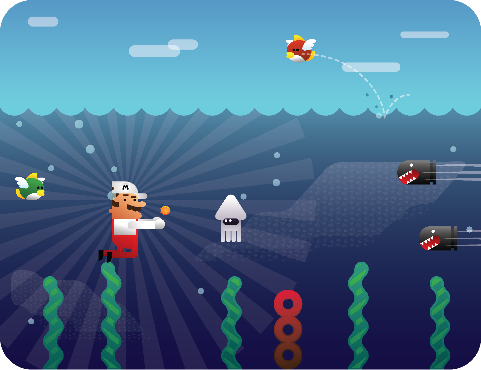 Super Mario Underwater  by   GuillermoVA