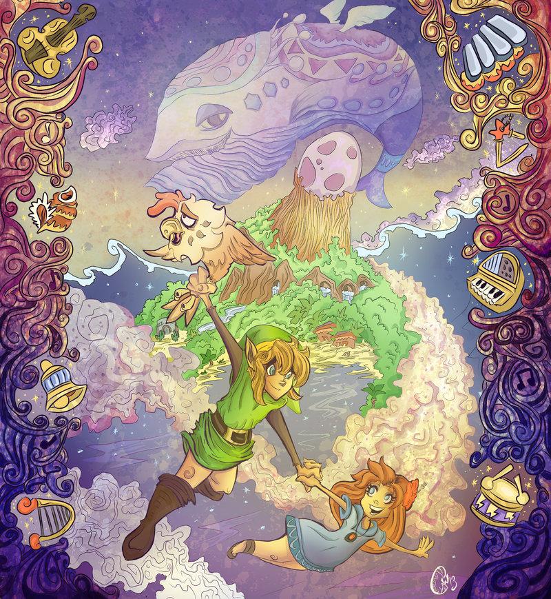 Legend-Zelda-Links-Awakening-art-RayRighteous