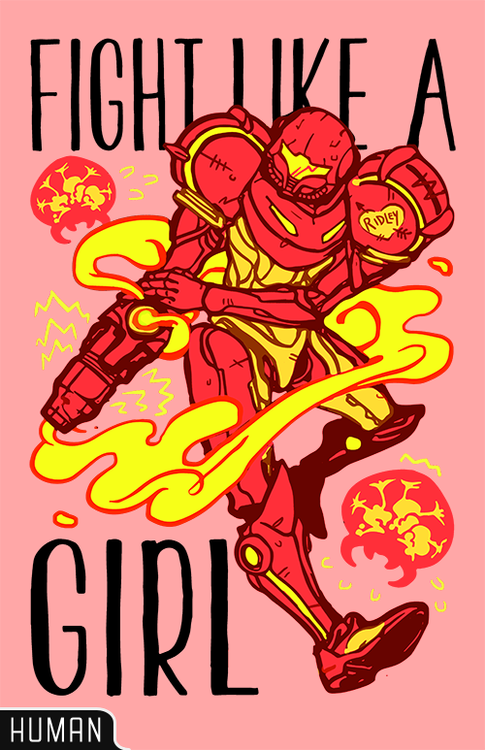 Cool Metroid inspired artwork available in shirt form at  lookhuman.com  (via  tumblr )